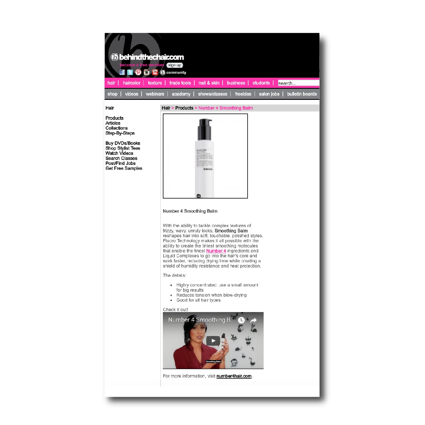 Behind The Chair - Number 4 High Performance Hair Care