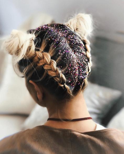 Glitter Hair, Glitter Roots, Glitter Buns