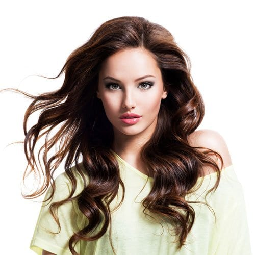 Woman with hydrated hair from hydrating shampoo