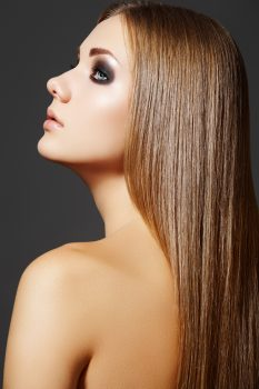 sleek, shiny hair with Number 4 Product