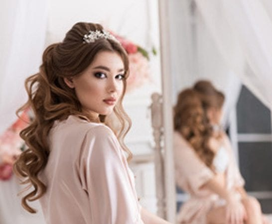 Bridal Hairstyle for wedding day